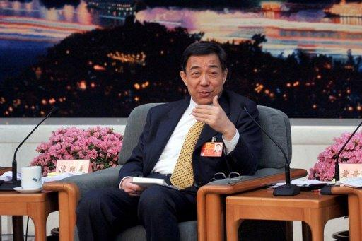 Bo Xilai, the charismatic but controversial Communist Party secretary of Chongqing, speaks to media during a press conference at the Great Hall of the People in Beijing in March 2012. China's top communist party newspaper said Sunday that preparations for a key meeting to set the country's next leadership were smooth, despite a festering political scandal