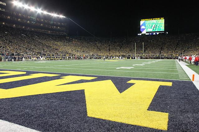 ESPN provided the cash for the permanent lights installed at Michigan Stadium nearly 10 years ago. (Photo by Scott W. Grau/Icon Sportswire via Getty Images