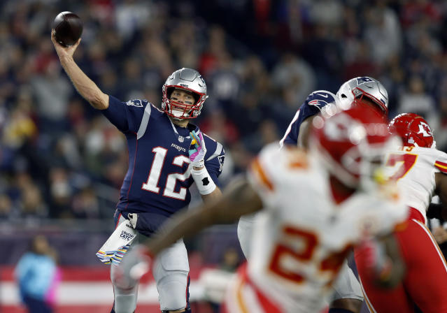 Tom Brady will face the Chiefs on Sunday, in his eighth AFC championship game in eight seasons. (AP)
