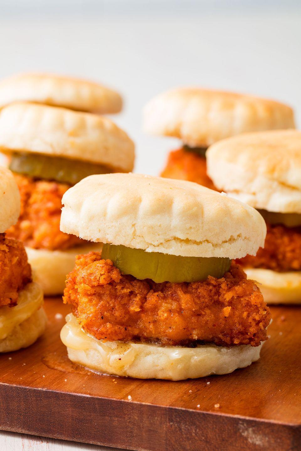 """<p>Move over, chicken and waffles.</p><p>Get the recipe from <a href=""""https://www.delish.com/cooking/recipe-ideas/recipes/a50371/chicken-n-biscuit-sliders-recipe/"""" rel=""""nofollow noopener"""" target=""""_blank"""" data-ylk=""""slk:Delish"""" class=""""link rapid-noclick-resp"""">Delish</a>.</p>"""