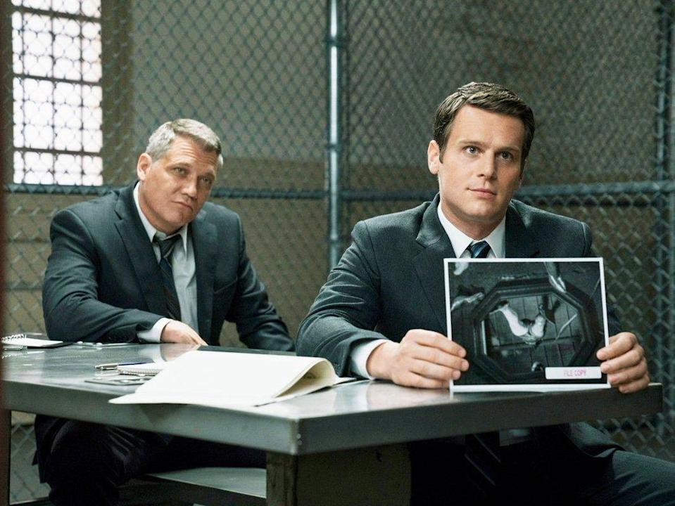 Holt McCallany and Jonathan Groff in 'Mindhunter'Netflix