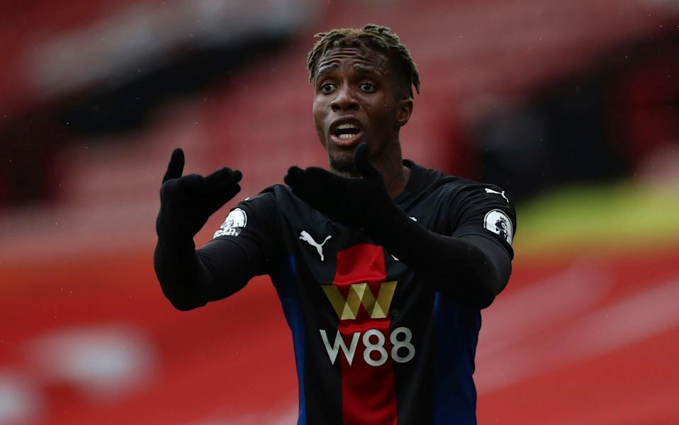 Could Wilfried Zaha be the difference in the second half? - AP