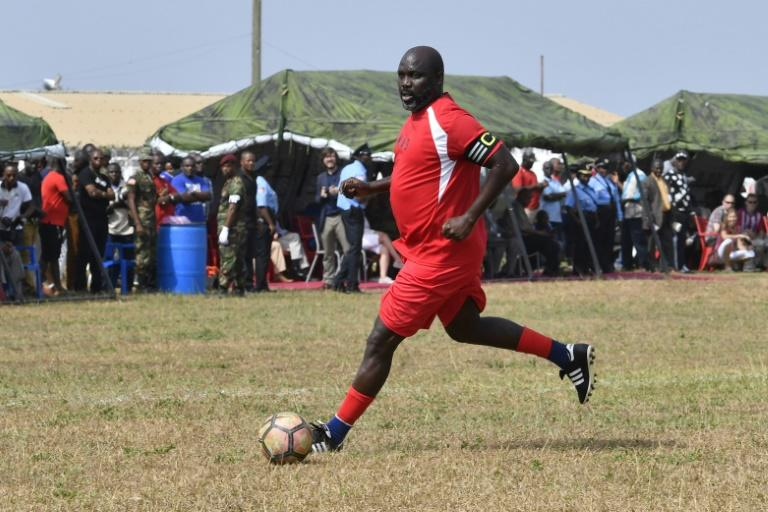 Liberia's president-elect George Weah played a friendly football match on Saturday against the army ahead of his inauguration, a match that he said could be his last