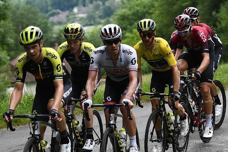 Adam Yates has pulled out of the Criterium with 50km to go due to a fever