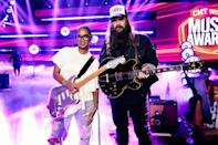 <p>H.E.R. and Chris Stapleton rock out during rehearsals for the CMT Music Awards on June 8 in Nashville. </p>