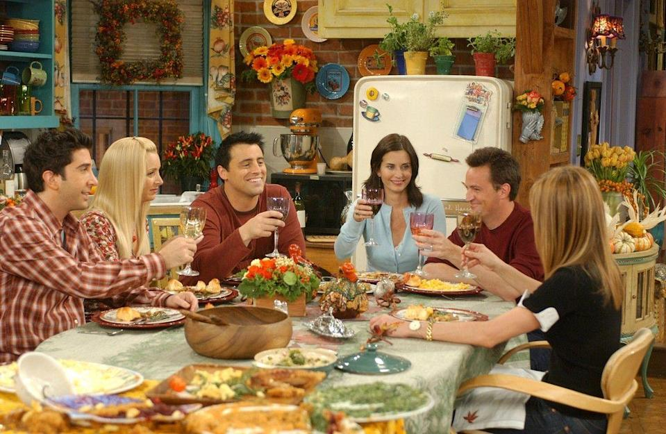 "<p>""Oh, I should be thankful for the wonderful fall we've been having."" — Joey Tribbiani </p>"