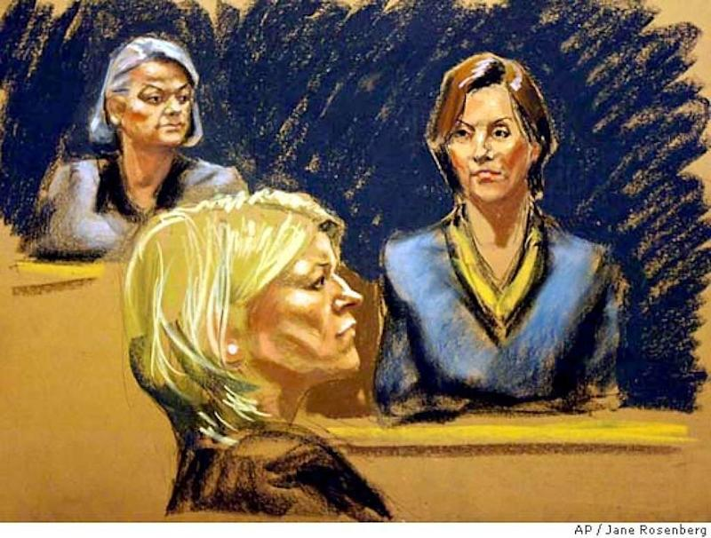 """Martha Stewart famously went on trial—and eventually went to prison—in 2004 for obstructing an investigation into her stock sales, but chief in the domestic goddess's mind throughout the process were also her portraits during the trial; she even courted sketch artists ahead of time, and got the Wall Street Journal to switch out its rendering where she thought she appeared bloated. Though this sketch by alum Rosenberg was apparently passable, another courtroom frequenter, Shirley Shepard, wasn't so lucky: When Shepard showed up to a taping of her show three years later, Stewart allegedly pointed her out to the audience—and declared her a """"bad artist."""""""