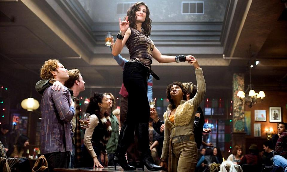 'It's a show you can't do sitting down' … Idina Menzel (centre) and Tracie Thoms (right) in the 2005 film.