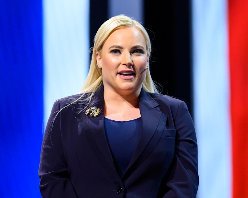 WASHINGTON, DC, UNITED STATES - 2019/03/26: Meghan McCain, TV Host and Author, seen speaking during the American Israel Public Affairs Committee (AIPAC) Policy Conference in Washington, DC. (Photo by Michael Brochstein/SOPA Images/LightRocket via Getty Images)