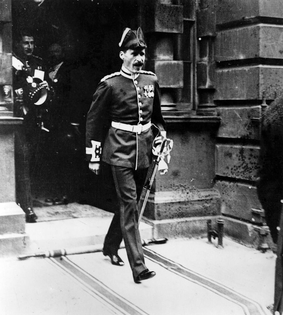 26th April 1923:  The honourable John Herbert Bowes-Lyon, at the wedding of the Duke and Duchess of York.  (Photo by Hulton Archive/Getty Images)