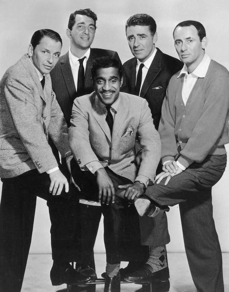 <p>An official portrait of this handsome group including Frank Sinatra, Dean Martin, Sammy Davis Jr., Peter Lawford and Joey Bishop in January 1960.</p>