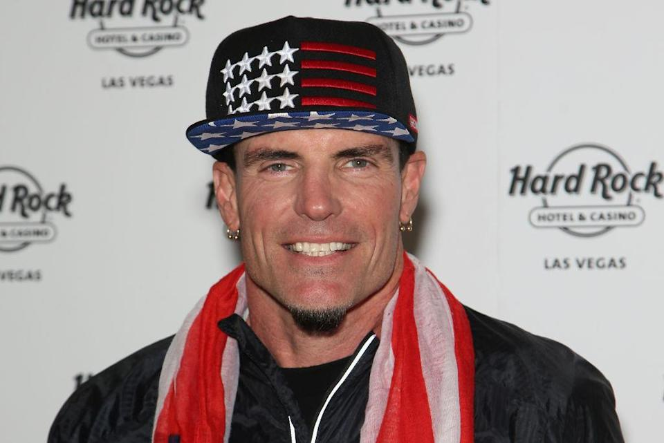 Rapper Vanilla Ice arrives at the <em>I Love the '90s</em> tour after-party at the Hard Rock Hotel & Casino on Feb. 4, 2017, in Las Vegas. (Photo: Gabe Ginsberg/Getty Images)