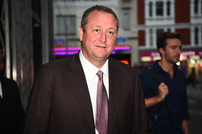 Sports Direct CEO Mike Ashley leaving the Sports Direct headquarters in London, as the company has revealed it is being pursued by authorities in Belgium over a 674 million euro (£605 million) tax bill, following a recent audit. (Photo by Kirsty O'Connor/PA Images via Getty Images)