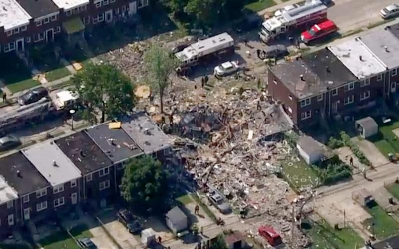 Baltimore firefighters say an explosion has leveled several homes in the city - WJLA-TV/WJLA-TV
