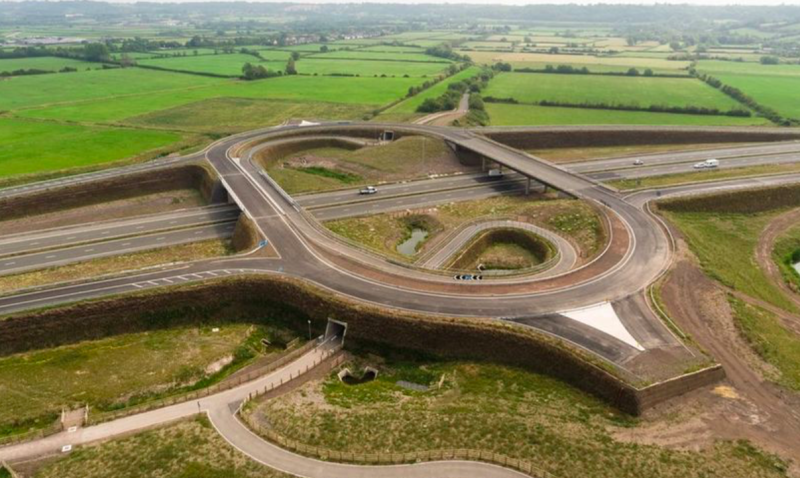 A link road to the new junction on the M49 has still yet to be built. (Highways England)