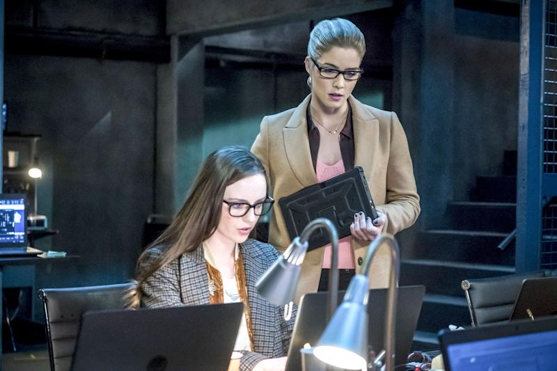 The Prometheus/Talia team-up brings down Oliver, and Helix teases out more of Felicity's dark roots