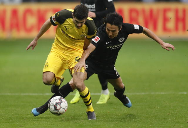 Christian Pulisic played the majority of the second half for Borussia Dortmund on Saturday. (EFE)