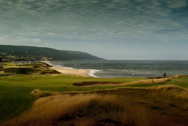<p>Ninth hole: 126/114/109 yards.</p> <p>The par-3 16th gets a lot of attention—as does the other magnificent cliff holes at Cabot Cliffs. But don't sleep on the short par-3 ninth hole.</p>