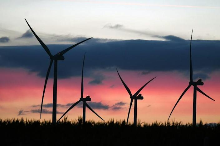 Wind and solar alone reached a record of 21 percent of Europe's total electricity generation (AFP Photo/Jean-Francois MONIER)