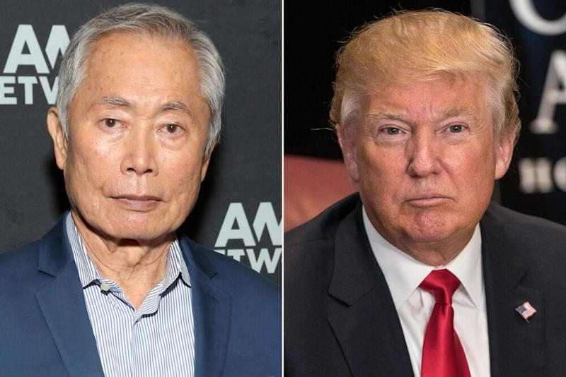 George Takei, Donald Trump | Jesse Grant/Getty;