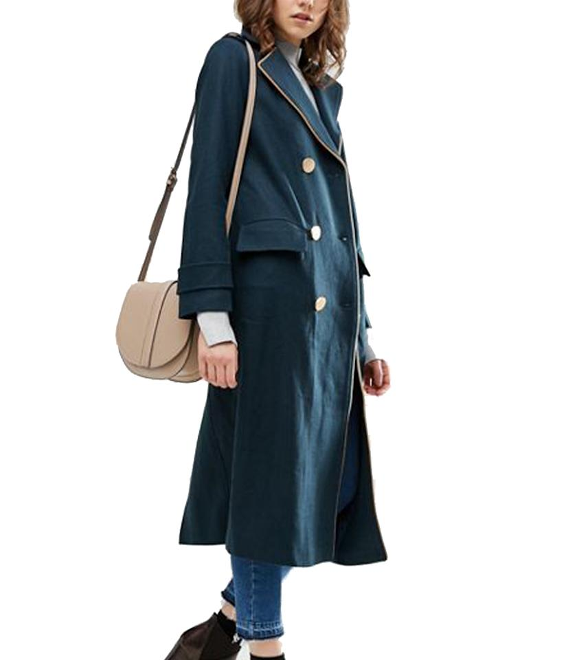"<p>$114, <a rel=""nofollow"" href=""http://us.asos.com/asos/asos-wool-blend-coat-in-midi-length-with-military-details/prd/6843813?iid=6843813&clr=Teal&SearchQuery=military%20coat&pgesize=36&pge=1&totalstyles=79&gridsize=3&gridrow=5&gridcolumn=3"">asos.com</a> </p>"