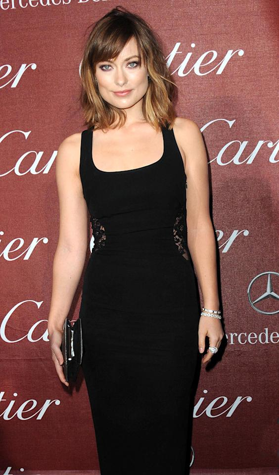 """<a href=""""http://movies.yahoo.com/movie/contributor/1808489542"""">Olivia Wilde</a> attends the 23rd Annual Palm Springs Film Festival awards gala on January 7,2012."""