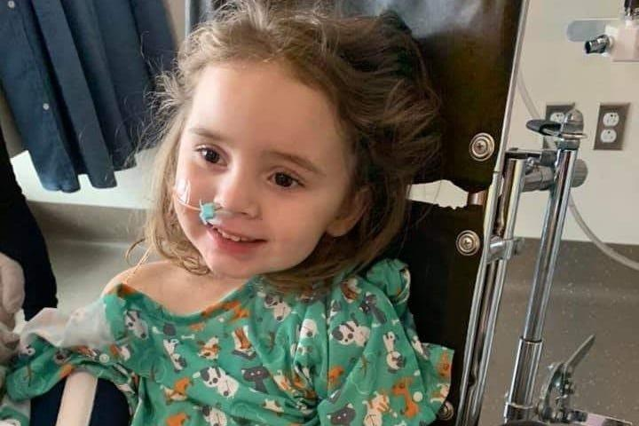 Jade DeLucia almost died from the flu on Christmas. She was left blind and is now recovering at home.