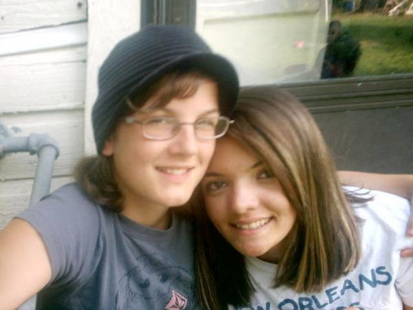 """Our first picture as a couple, taken in 2007 on our one month dating """"anniversary."""" (Photo Courtesy of Baylea Jones)"""