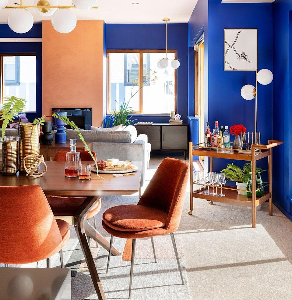 """<p><a class=""""link rapid-noclick-resp"""" href=""""https://go.redirectingat.com?id=74968X1596630&url=https%3A%2F%2Fwww.westelm.com%2F&sref=https%3A%2F%2Fwww.esquire.com%2Flifestyle%2Fg35141580%2Fbest-online-furniture-stores%2F"""" rel=""""nofollow noopener"""" target=""""_blank"""" data-ylk=""""slk:Shop"""">Shop</a></p><p>West Elm traffics in neutral, earthy tones, but you'd be mistaken to call its styles minimalist. The detailing, from the leather to the wood grain to the fabric swatches—and the many brushed bronze and burnished gold accents; seriously, <em>many</em>—sets it apart. West Elm is the kind of store a new New Yorker (one ignorant of the <a href=""""https://www.theawl.com/2017/02/why-does-this-one-couch-from-west-elm-suck-so-much/"""" rel=""""nofollow noopener"""" target=""""_blank"""" data-ylk=""""slk:Couch Story"""" class=""""link rapid-noclick-resp"""">Couch Story</a>) will find themselves wandering around, muttering in admiration, """"One day, I will be able to afford this."""" Perhaps it is finally that day. </p>"""