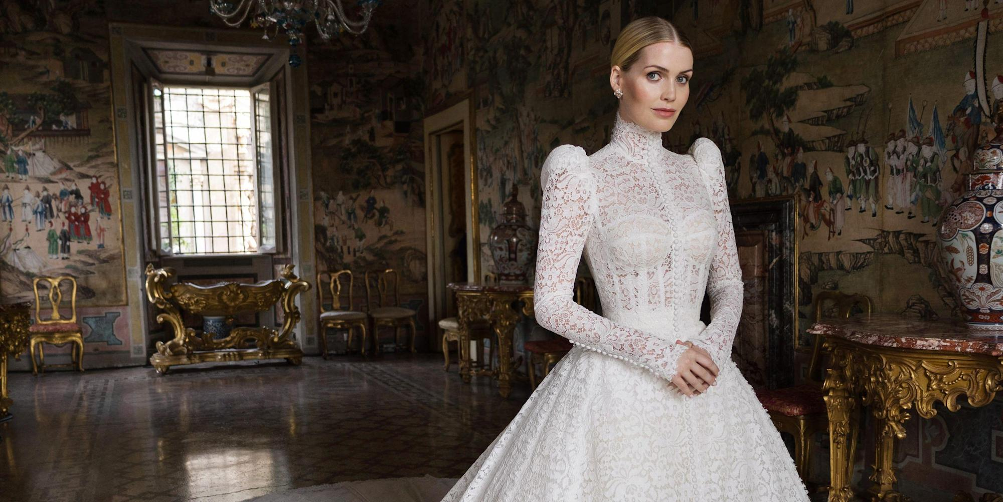 Kitty Spencer gets married in a spectacular Dolce & Gabbana wedding dress