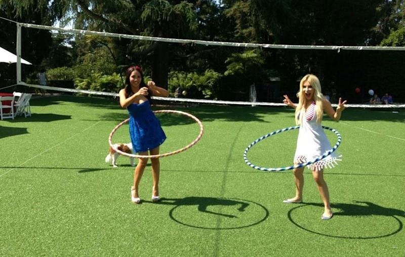 The girls just having some fun thanks to Hef! Source: Supplied