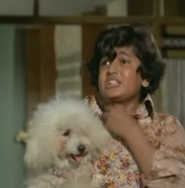 The saying 'it's the size of the dog in a fight' is truly representative of this sweet pooch who appears briefly in the film but is essential to the plot. Shankar (Master Satyajeet) leads a happy life with his bhaiyya, bhabhi and a pet poodle. When his brother banishes his wife due to a misunderstanding and later remarries, Shankar retreats into a shell with only his dog for company. Shankar's new sister-in-law, Sonia is a greedy woman who is after the family's wealth and wants Shankar out of her way. When Sonia tries to push Shankar off the terrace, his loyal little poodle foils her attempt. He pounces at her to protect the young boy, but a cruel Sonia fakes injury to declare the dog mad and has him shot dead. A grief-stricken and unforgiving Shankar leaves the house thus beginning the tale of a family torn by wrong actions.