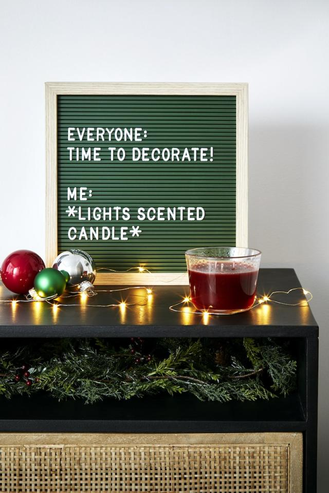"""<p>To give your home holiday vibes within the next five minutes, light this luxurious three-wick candle. With notes of blackcurrant, amber, honeysuckle, and jasmine, this candle will scent your home with its rich aroma. </p> <p><strong>To buy: </strong><a href=""""https://www.walmart.com/ip/Glade-3-Wick-Candle-Air-Freshener-1-CT-Deep-Amber-Hills-6-8oz/556707242"""" target=""""_blank"""">walmart.com</a>. </p>"""