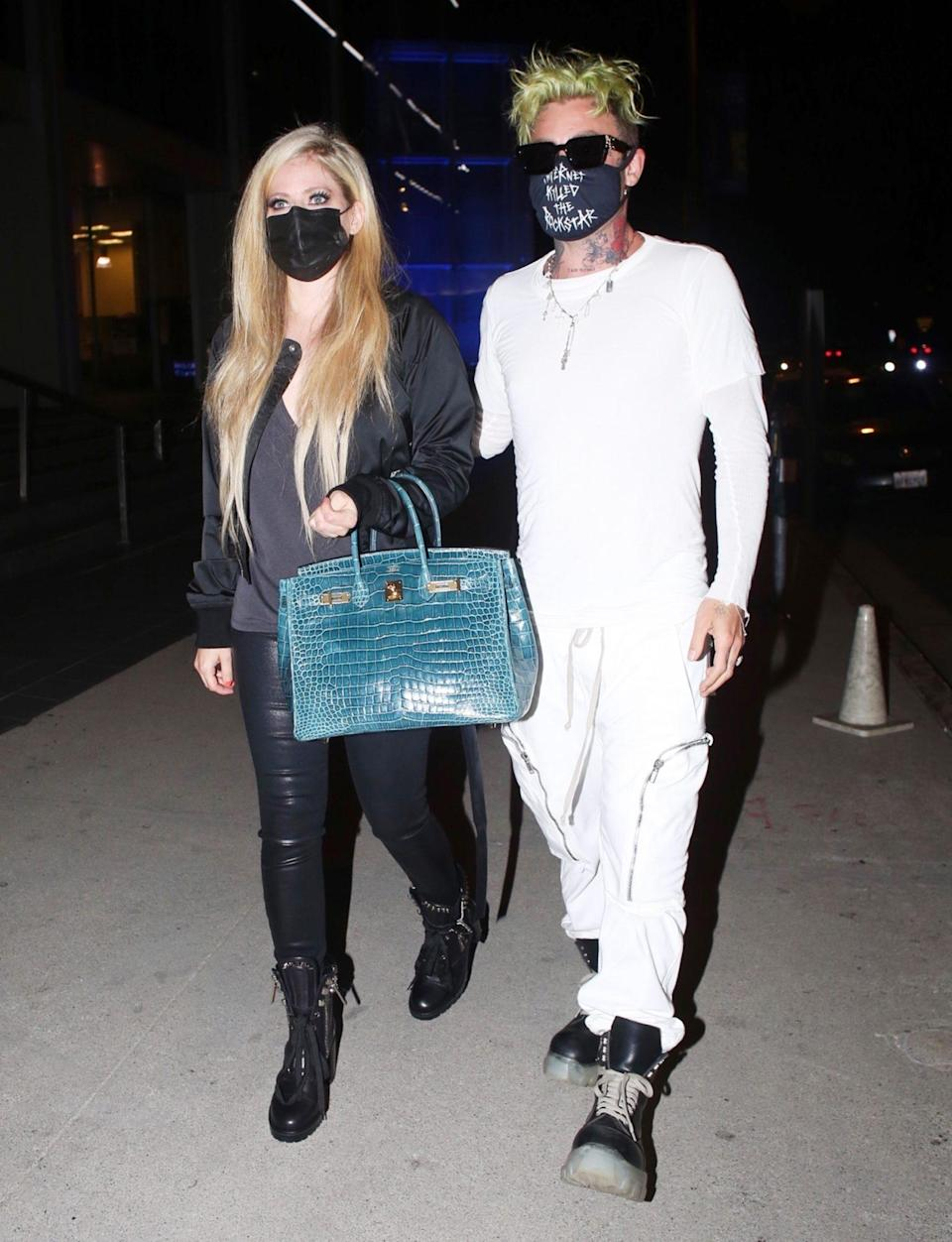 <p>Avril Lavigne and Mod Sun have a date night at BOA Steakhouse on Tuesday in L.A.</p>