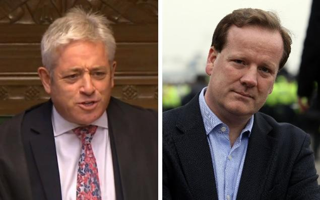 John Bercow (L) has backed demands for transparency over the complaints procedure as Tory MP Charlie Elphicke (R) claims he is being denied justice