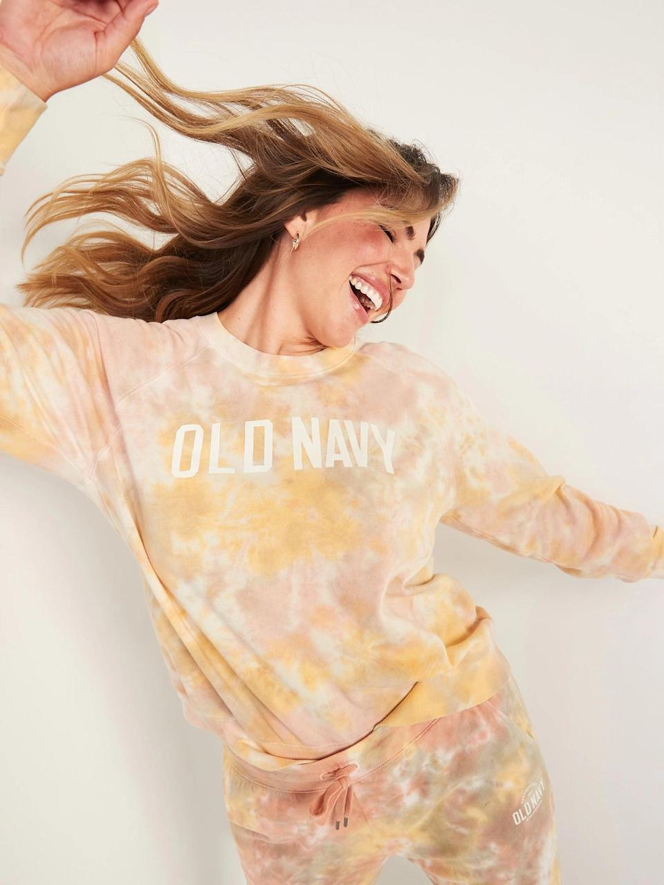 <p>You can't go wrong with this classic <span>Old Navy Vintage Specially Dyed Crew-Neck Sweatshirt</span> ($35). Keep reading to see the matching sweatpants.</p>