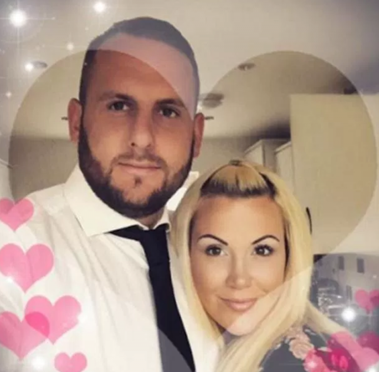 Ashley Murrell, right, and her dead husband's brother, Chris, left, are in a relationship (Picture: Caters)