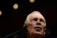 U.S. 2020 Democratic presidential candidate Michael Bloomberg speaks at a campaign rally in Houston, Texas