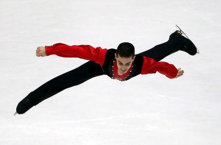 FILE PHOTO:  Javier Fernandez of Spain performs at men's singles short program during China ISU Grand Prix of Figure Skating in Beijing