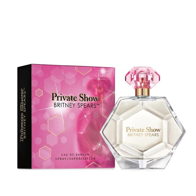 "<p>Britney Spears has some die-hard fans who follow her perfumes just as much as they do her. This <a href=""http://store.britneyspears.com/fragrance/private-show-perfume.html"" rel=""nofollow noopener"" target=""_blank"" data-ylk=""slk:Private Show"" class=""link rapid-noclick-resp"">Private Show</a> scent has an interesting blend of whipped crème coffee, clementine, juicy nectarine, dulche de leche, orange flower, jasmine sambac, luminous amber, and sensual musks. (Photo: britneyspears.com) </p>"