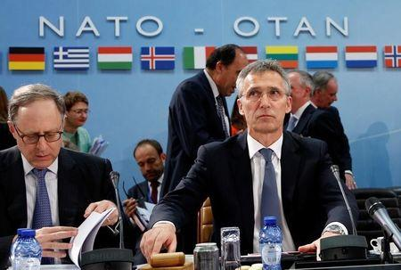 NATO Secretary-General Jens Stoltenberg chairs a NATO defence ministers meeting at the Alliance headquarters in Brussels, Belgium, June 14, 2016.     REUTERS/Francois Lenoir