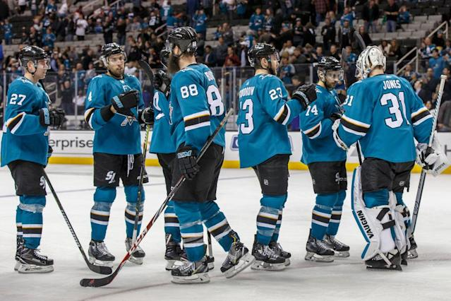 "The <a class=""link rapid-noclick-resp"" href=""/nhl/teams/san/"" data-ylk=""slk:San Jose Sharks"">San Jose Sharks</a> aren't a super team, but they are plenty interesting."