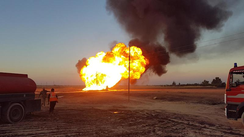 Gas pipeline explosion leads to blackout across Syria