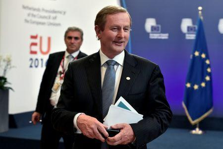 Ireland's Prime Minister Enda Kenny leaves after the EU Summit in Brussels, Belgium, June 29, 2016. REUTERS/Eric Vidal