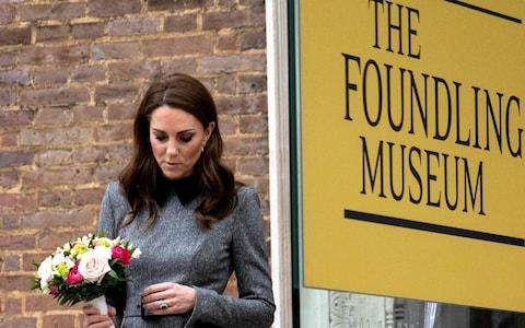 The Duchess arrives at the Foundling Museum - Credit: AFP