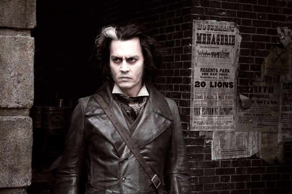 "<p>Johnny Depp basically never met a creepy character he didn't like. Case in point: playing a murderous barber in this reimagining of the Broadway musical. </p> <p><a href=""https://www.amazon.com/Sweeney-Todd-Demon-Barber-Street/dp/B088VLCDYH/"" rel=""nofollow noopener"" target=""_blank"" data-ylk=""slk:Available to stream on Amazon Prime Video"" class=""link rapid-noclick-resp""><em>Available to stream on Amazon Prime Video</em></a></p>"
