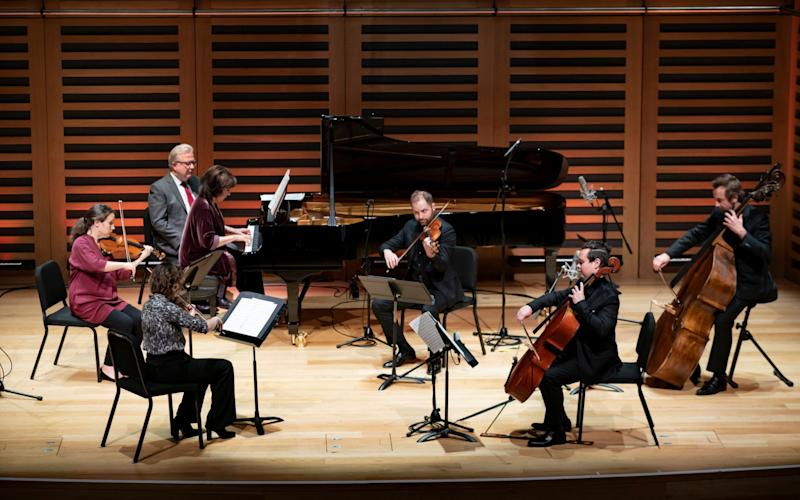 Pianist Imogen Cooper performs with the Aurora Orchestra at Kings Place, London - Kings Place/Nick Rutter
