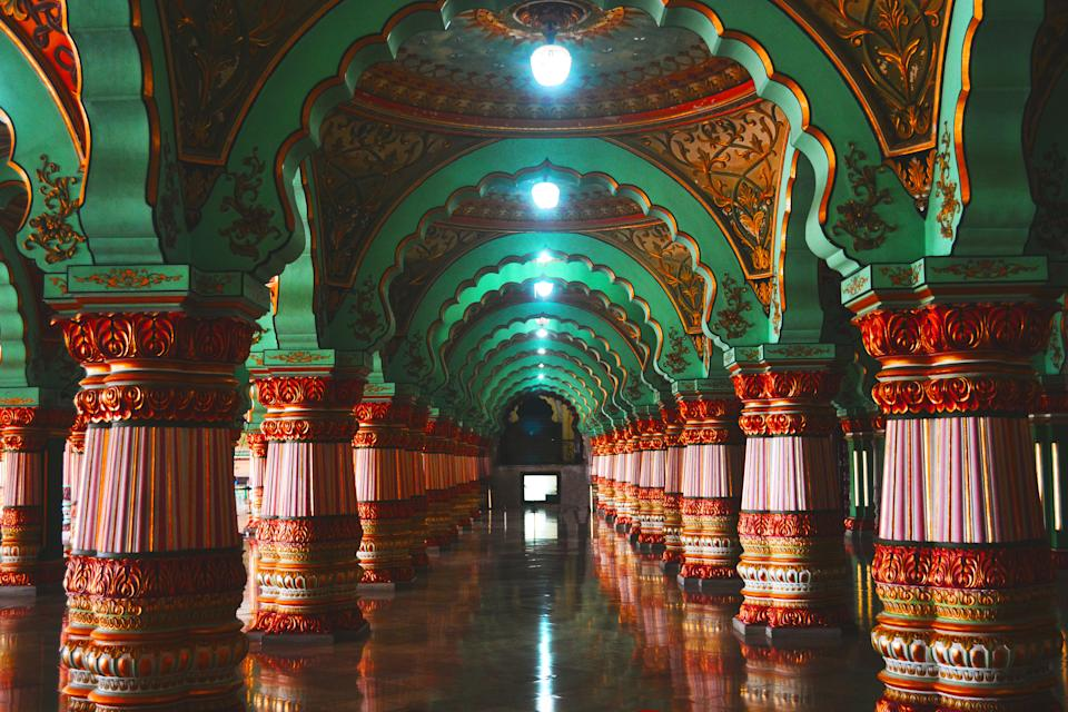 Mysore Palace is a historical palace and a royal residence at Mysore in the Indian State of Karnataka. It is the official residence of the Wadiyar dynasty and the seat of the Kingdom of Mysore.