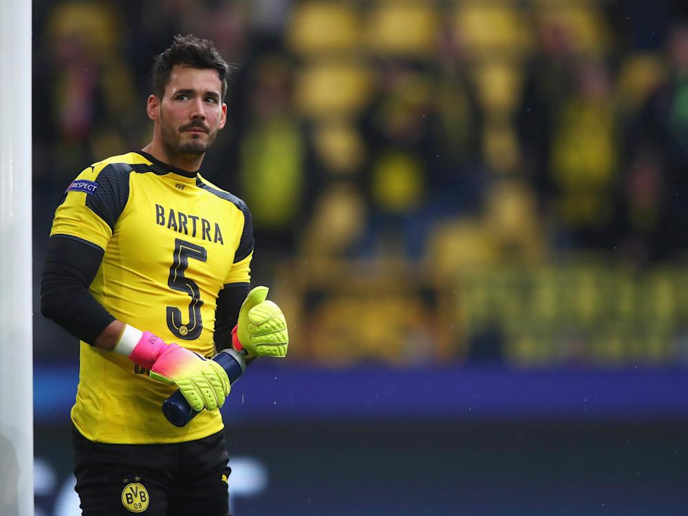 Burki wore a Bartra shirt before the match against Monaco: Getty