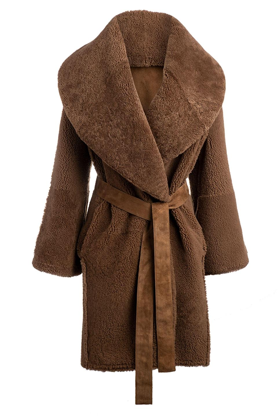 """<p><strong>Arje </strong></p><p>arje.com</p><p><strong>$3595.00</strong></p><p><a href=""""https://arje.com/collections/womens-coats-and-jackets-may-2020/products/the-anais-reversible-shearling-coat-2"""" rel=""""nofollow noopener"""" target=""""_blank"""" data-ylk=""""slk:Shop Now"""" class=""""link rapid-noclick-resp"""">Shop Now</a></p><p>Described as dramatic, this is a teddy coat with an oversized collar to be the coat you'll never want to take off.<br></p>"""